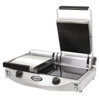 Cadco - CPG20 - Glass Ceramic Panini / Clamshell Grill - Double