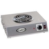 Cadco - CSR1T - Single Stainless Steel Hot Plate - 6
