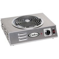 Cadco - CSR3T - Single Hi-Power Stainless Steel Hot Plate - 8
