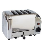Cadco - CTS4 - Stainless Steel Mica Toaster - 4 Slots