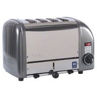 Cadco - CTW4M - Stainless Metallic Grey Mica Toaster - 4 Slots