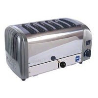Cadco - CTW6M - Stainless Metallic Grey Toaster - 6 Slots