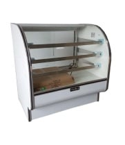 "Leader CVK48 - 48"" Curved Glass Refrigerated Bakery Display Case - Counter Height"
