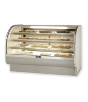 "Leader CVK77-D - 77"" Curved Glass Dry Bakery Display Case - Counter Height"