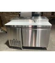 "Universal UPPT50 50"" One Door Pizza Prep Table Refrigerator - Scratch and Dent"