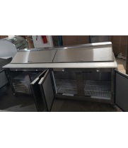 "Scratch & Dent - Leader LM96 - 96"" Refrigerated Sandwich / Salad Prep Table"