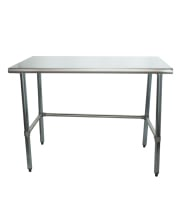"Universal SS3048-CB - 48"" X 30"" Stainless Steel Work Table W/ Stainless Steel Cross Bar"