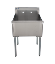 "Universal BS-C1T2424 24"" One Compartment Commercial Sink"