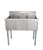 Universal BS2112-3 - Three Compartment Sink - 36""