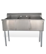 Universal BS2116-3 - Three Compartment Sink - 48""