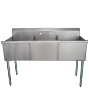 Universal BS2118-3 - Three Compartment Sink - 54""