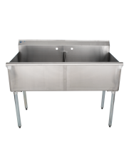 Universal BS2124-2 - Two Compartment Sink - 48""
