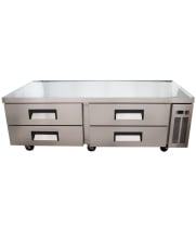 "Universal UCB72 72"" 4 Drawer Refrigerated Chef Base"