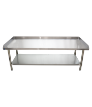 "Universal ES-S3072 30"" x 72"" Stainless Steel Equipment Stand 16-Gauge with Galvanized Undershelf"