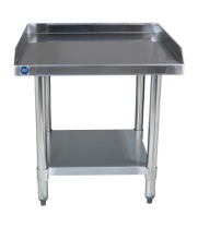 "Universal ES-S2424 24"" x 24"" Stainless Steel Equipment Stand 16-Gauge with Galvanized Undershelf"