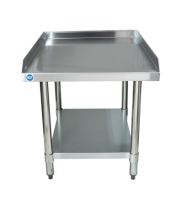 "Universal ES-S2430 24"" x 30"" Stainless Steel Equipment Stand 16-Gauge with Galvanized Undershelf"