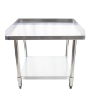 "Universal ES-S3030 30"" x 30"" Stainless Steel Equipment Stand 16-Gauge with Galvanized Undershelf"