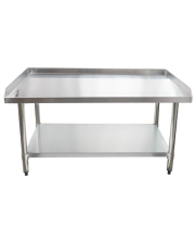 "Universal ES-S3048 30"" x 48"" Stainless Steel Equipment Stand 16-Gauge with Galvanized Undershelf"