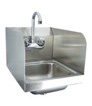 "Universal HS-12SS - 12"" x 16""  Wall Mount Hand Sink with Faucet and Side Splash"