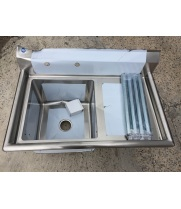 "Scratch & Dent - Universal LJ1818-1R - 39"" One Compartment Sink W/ Right Drainboard"