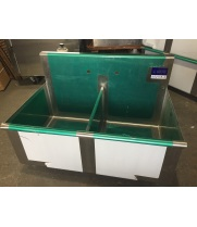 "Universal BS2118-2 36"" Two Compartment Commercial Sink - Scratch & Dent"