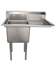 "Universal LJ1818-1R - 39"" One Compartment Sink W/ Right Drainboard"