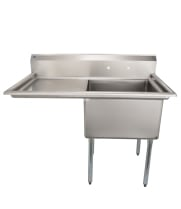 "Universal LJ2424-1L - 51"" One Compartment Sink W/ Left Drainboard"