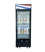"Atosa MCF8726GR - 24"" Glass Door Refrigerator - 8.3 cu. ft. - Bottom Mount"