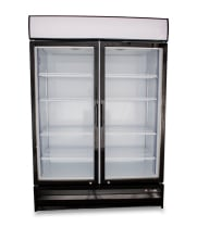 "Universal SB54SC - 54"" Glass Door Reach In Refrigerator"