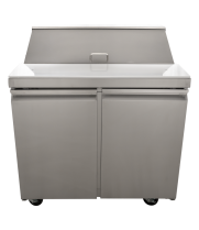 "Universal USPTR36 36"" Two Door Salad / Sandwich Prep Table"
