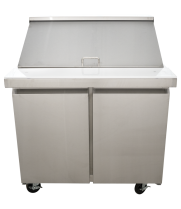 "Universal USPT36 36"" Mega Top Two Door Sandwich Prep Table Refrigerator"