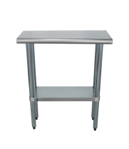 "Universal SS1430 - 30"" X 14"" Stainless Steel Work Table W/ Stainless steel Under Shelf"