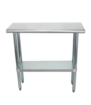 "Universal SS1436 - 14"" X 36"" Stainless Steel Work Table W/ Stainless Steel Under Shelf"
