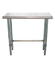 "Universal SG1436-RCB - 36"" X 14"" Stainless Steel Work Table W/ Galvanized Cross Bar"