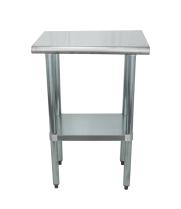 "Universal SS1824 - 24"" X 18"" Stainless Steel Work Table W/ Stainless Steel Under Shelf"