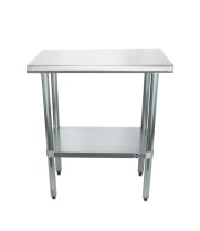 "Universal SS1830 - 30"" X 18"" Stainless Steel Work Table W/ Stainless Steel Under Shelf"