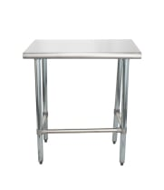 "Universal SS1830-CB - 30"" X 18"" Stainless Steel Work Table W/ Stainless Steel Cross Bar"