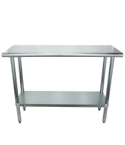 "Universal SS1848 - 48"" X 18"" Stainless Steel Work Table W/ Stainless Steel Under Shelf"