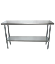 "Universal SS1860 - 60"" X 18"" Stainless Steel Work Table W/ Stainless Steel Under Shelf"