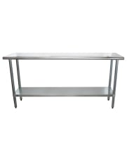 "Universal SS1872 - 72"" X 18"" Stainless Steel Work Table W/ Stainless Steel Under Shelf"