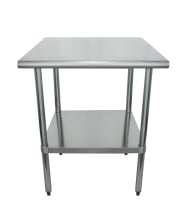 "Universal SG2424 - 24"" X 24"" Stainless Steel Work Table W/ Galvanized Under Shelf"