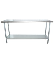 "Universal SG2472 - 72"" X 24"" Stainless Steel Work Table W/ Galvanized Under Shelf"