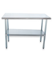 "Universal SS1448 - 48"" X 14"" Stainless Steel Work Table W/ Stainless Steel Under Shelf"