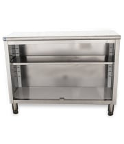 "Universal ST-314-48-O - 14"" X 48"" Stainless Steel Storage Dish Cabinet - Open Front"