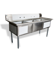 "Universal LJ2424-3 - 77"" Three Compartment Sink - NSF Certified"