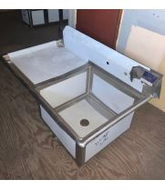 "Scratch & Dent - Universal LJ2424-1L - 51"" One Compartment Sink W/ Left Drainboard"