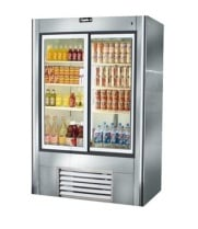 "Leader LS38 - Two Door 38"" Reach In Refrigerator - Sliding Glass Doors"
