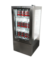 Stainless Steel Countertop Display Refrigerator - 4 View, 2.5 cu. ft.