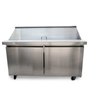 "Universal USPT60 60"" Mega Top Two Door Sandwich Prep Table Refrigerator"