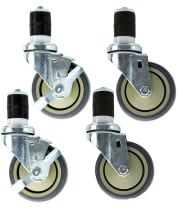 "Universal TSC-4 - 4"" Push-In Table Caster - 4 per Case"